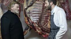 Dark role: Chris O'Dowd with Brendan Gleeson in 'Calvary'
