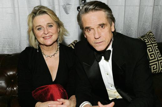 Talented pair: Sinéad Cusack with husband Jeremy Irons