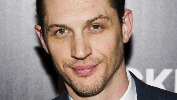 Tom Hardy watches video footage to perfect his acting