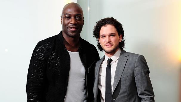 Adewale Akinnuoye-Agbaje and Kit Harington went to gladiator boot camp for their roles in Pompeii