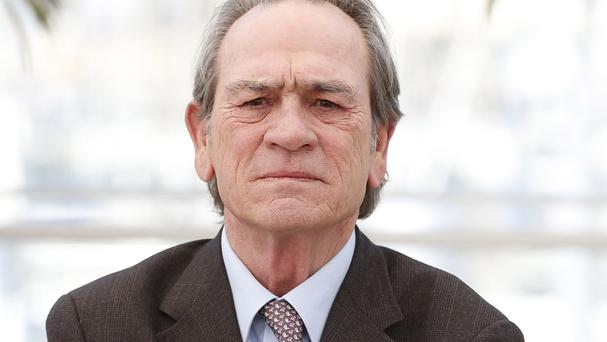 Tommy Lee Jones did not want to be drawn into a discussion about the political themes of his new movie at Cannes
