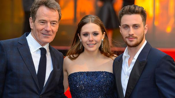 Bryan Cranston, Elizabeth Olsen and Aaron Taylor-Johnson star in Godzilla