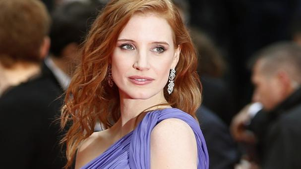 Jessica Chastain feels at ease on the red carpet in Cannes