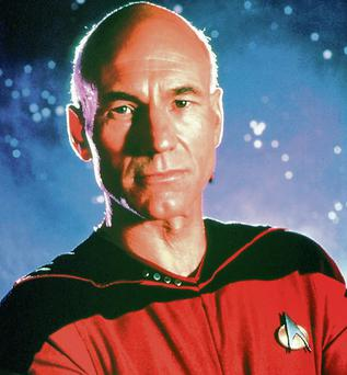 Patrick Stewart as Captain Jean-Luc Picard in Star Trek