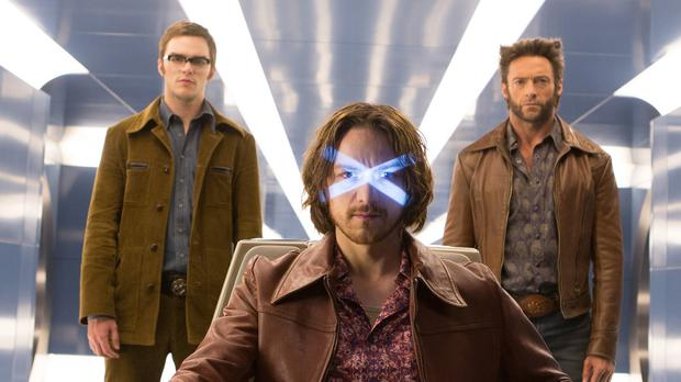 James McAvoy, Hugh Jackman and Nicholas Hoult star in X-Men: Days Of Future Past