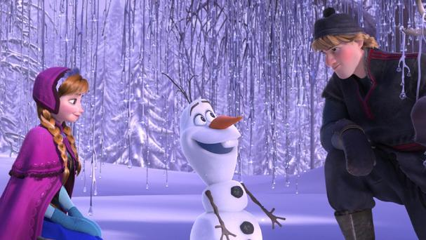 Kristen Bell and Jonathan Groff lend their voices to characters in Frozen