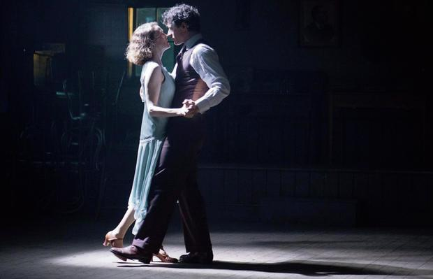 Actress Simone Kirby and Barry Ward dance in a scene from 'Jimmy's Hall'