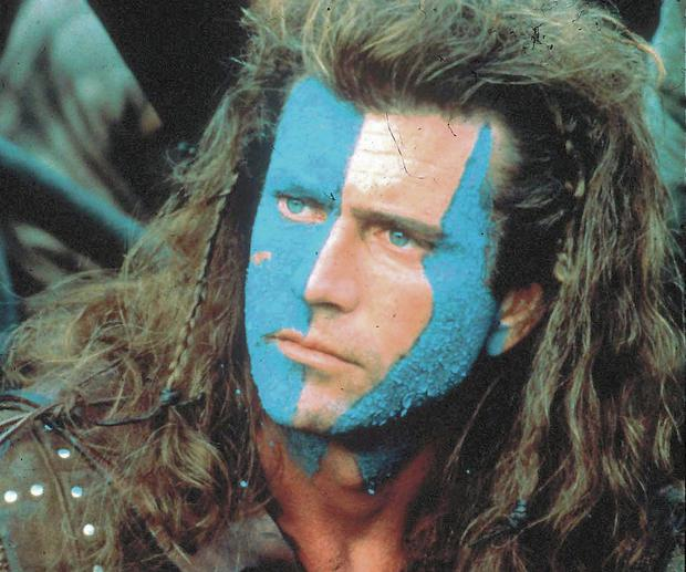BRAVE FACE: Mel Gibson stars as William Wallace in the epic 1995 movie