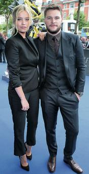 MTV's Laura Whitmore and Jack Reynor at the Irish premiere of 'Transformers: Age of Extinction' in Dublin.