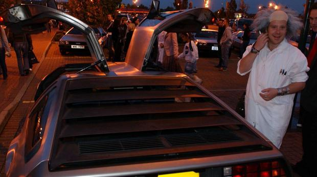 The event was billed as recreating the setting for the 1985 hit movie Back To The Future