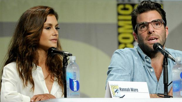 Hannah Ware and Zachary Quinto helped promote Hitman: Agent 47 at Comic-Con