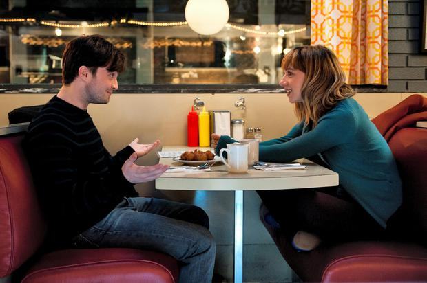 Zoe Kazan and Daniel Radcliffe in 'What If'.