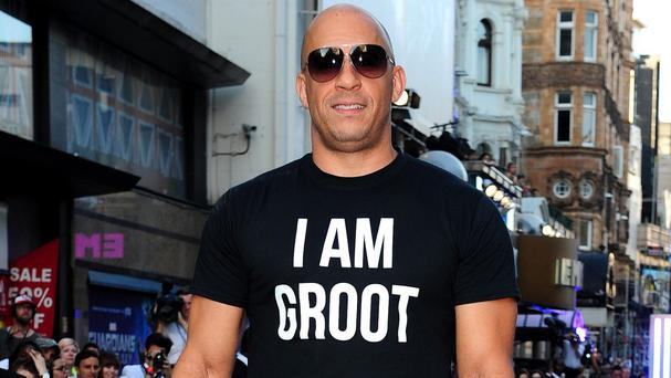 Vin Diesel plays Groot in Guardians Of The Galaxy