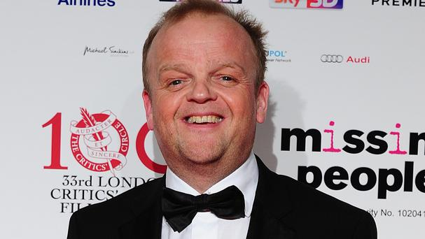 Toby Jones plays Games announcer Claudius Templesmith in The Hunger Games films for his daughters