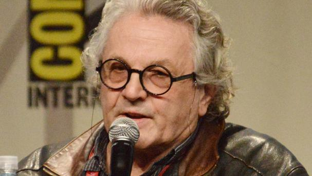 Director George Miller speaking at the Warner Bros Pictures panel for Mad Max: Fury Road (Richard Shotwell/Invision/AP)