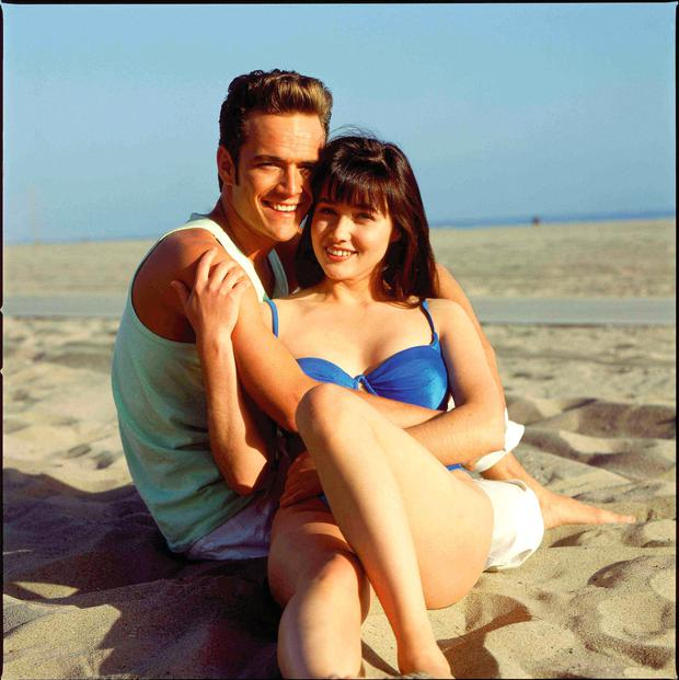 Luke Perry and Shannen Doherty of Beverley Hills 90210