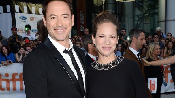 Robert Downey Jr and wife Susan at the Toronto International Film Festival