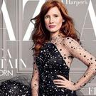 Jessica Chastain appears on the cover of the latest issue of Harper's Bazaar magazine (David Slijper/Harper's Bazaar)