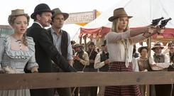 Amanda Seyfried stars with Neil Patrick Harris, Seth MacFarlane and Charlize Theron in A Million Ways to Die in the West (Universal)