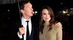 Benedict Cumberbatch and Keira Knightley at the BFI London Film Festival opening night gala screening of The Imitation Game