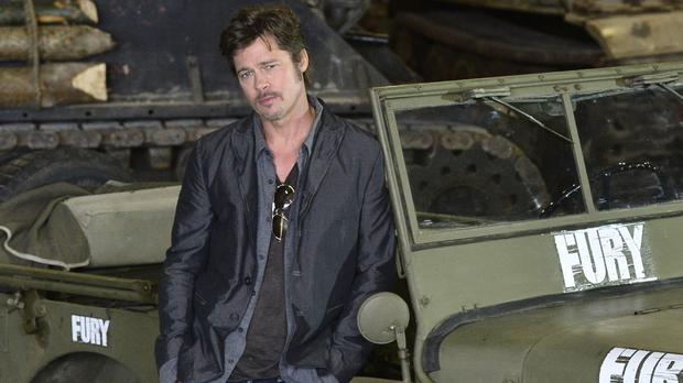 Brad Pitt said he learnt a thing or two about tanks from his son