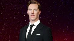 The new wax figure of Sherlock star Benedict Cumberbatch is launched at Madame Tussauds in London
