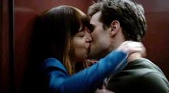 Jamie Dornan pictured with Dakota Johnson in the film version of Fifty Shades of Grey