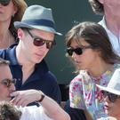 Benedict Cumberbatch and Sophie Hunter at the French Open tennis final in Paris in June
