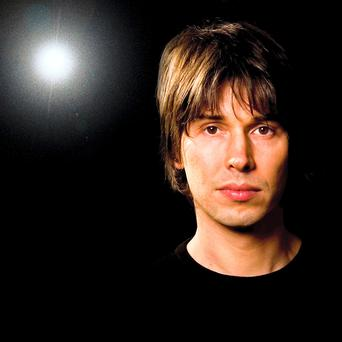 Floppy-haired scientist Brian Cox.