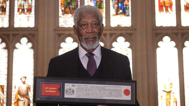Morgan Freeman, who received the Freedom of the City of London