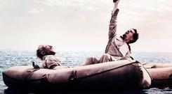 Domhnall Gleeson (left) in a scene from his new movie Unbroken