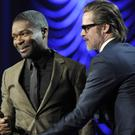 Brad Pitt presented the breakthrough performance award to David Oyelowo at the Palm Springs International Film Festival Awards Gala