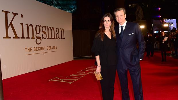 Colin Firth and his wife Livia attending the world premiere of Kingsman: The Secret Service at the Odeon Leicester Square