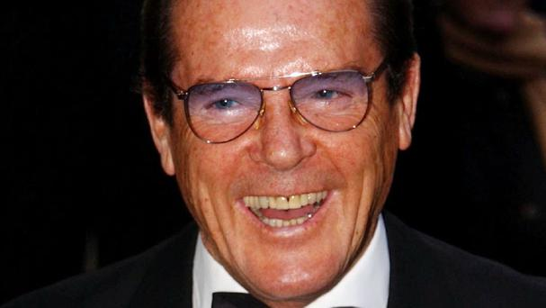 Sir Roger Moore is a previous 007