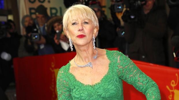 Dame Helen Mirren stumbled on the red carpet at the Berlin Film Festival premiere of Woman in Gold