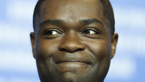 David Oyelowo during the press conference for the film Selma at the 2015 Berlinale Film Festival (AP)
