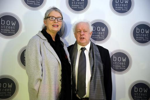 Maureen Hughes and Jim Sheridan at the opening of the Bow Street Academy for Screen Acting, Smithfield. Photo: Arthur Carron