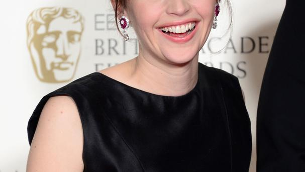 Felicity Jones at the Baftas earlier this month