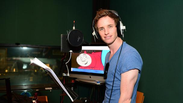 Eddie Redmayne in the recording studio to voice the character Ryan in the new Thomas The Tank Engine DVD (PR/PA)