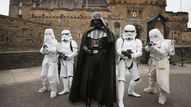Darth Vader with other Star Wars characters