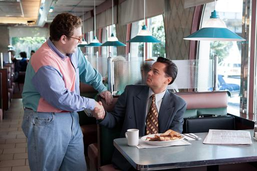 Jonah Hill and Leonardo DiCaprio in 'The Wolf Of Wall Street'.