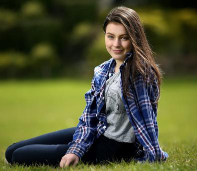 Natural talent: Jordanne Jones, whose mother is Lynn Ruane, president elect of Trinity College Students Union - has been nominated for an IFTA. Photo: Gerry Mooney.