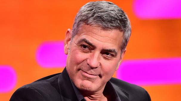 George Clooney during filming of The Graham Norton Show