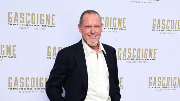Paul Gascoigne at the world premiere of the film at The Ritzy in Brixton, south London