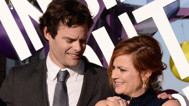 Bill Hader and Amy Poehler at the Los Angeles premiere of Inside Out. (Dan Steinberg/Invision/AP)
