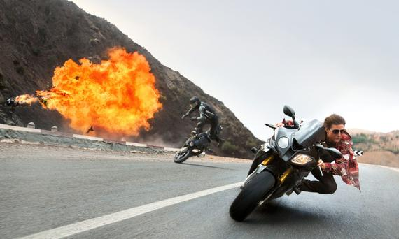 Action man: Tom Cruise continues to do his own stunts in Mission Impossible 5