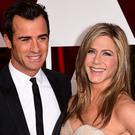 Justin Theroux and Jennifer Aniston at the Oscars in Hollywood earlier this year