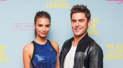 Zac Efron and Emily Ratajkowski at the European premiere of We Are Your Friends
