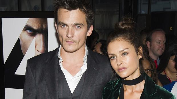 Rupert Friend and Hannah Ware at the New York premiere for Hitman: Agent 47 (Invision/AP)