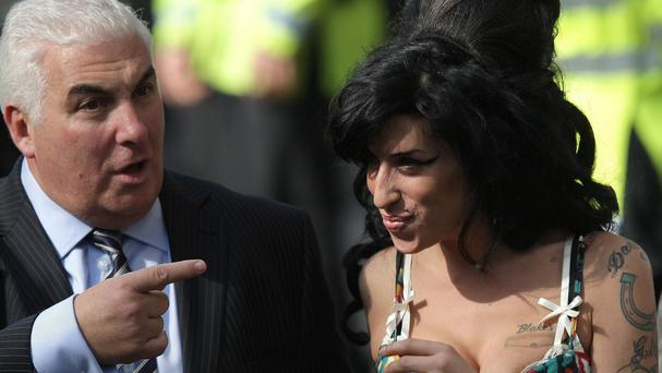 Amy Winehouse with her father Mitch